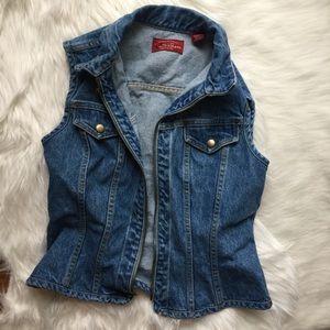 Vintage Zip-Up Jean Vest